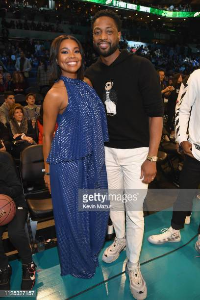 Gabrielle Union and Dwyane Wade attend the 2019 State Farm AllStar Saturday Night at Spectrum Center on February 16 2019 in Charlotte North Carolina