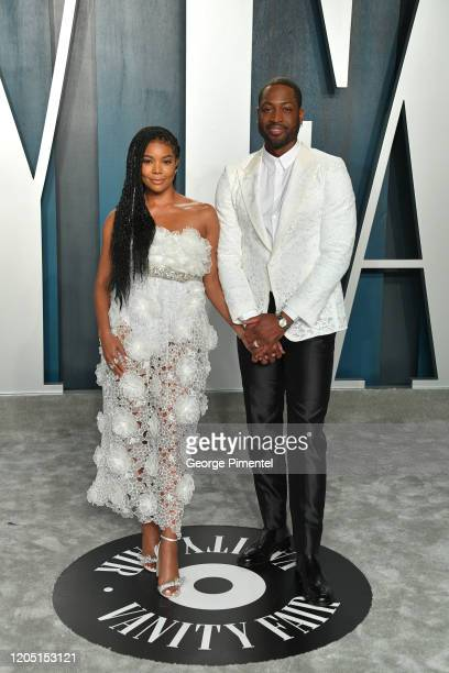 Gabrielle Union and Dwyane Wade attend the 2020 Vanity Fair Oscar party hosted by Radhika Jones at Wallis Annenberg Center for the Performing Arts on...