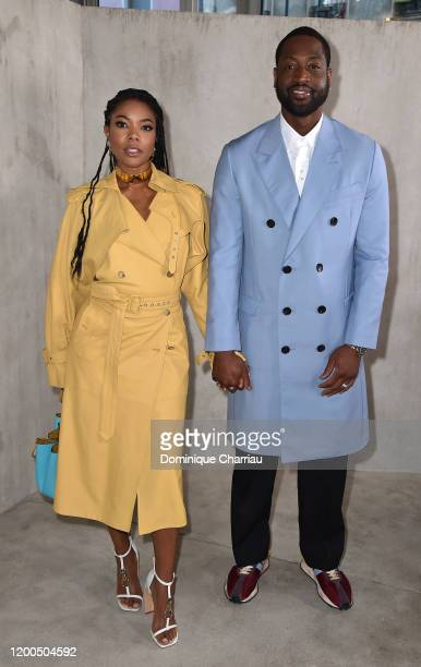 Gabrielle Union and Dwyane Wade attend the Lanvin Menswear Fall/Winter 2020-2021 show as part of Paris Fashion Week on January 19, 2020 in Paris,...