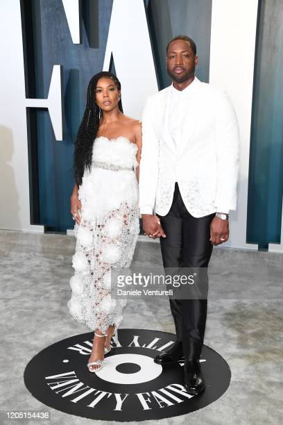 Gabrielle Union and Dwyane Wade attends 2020 Vanity Fair Oscar Party Hosted By Radhika Jones at Wallis Annenberg Center for the Performing Arts on...