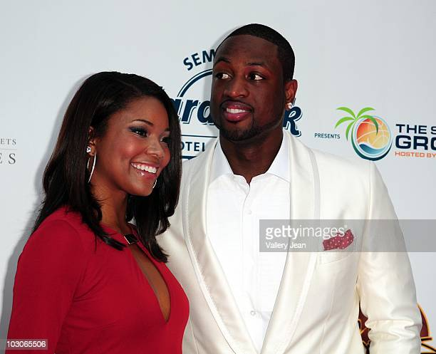 Gabrielle Union and Dwyane Wade attends Summer Groove Benefit Dinner at Seminole Hard Rock Hotel on July 17 2010 in Hollywood Florida