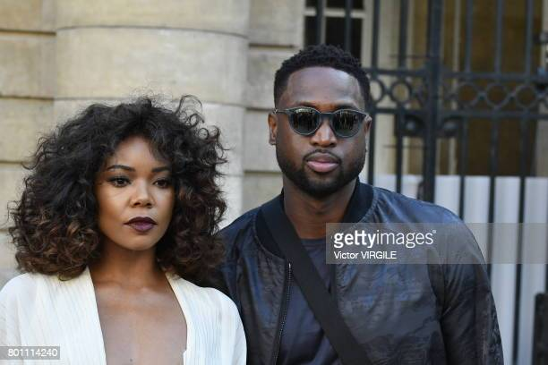 Gabrielle Union and Dwyane Wade during the Berluti Menswear Spring/Summer 2018 show as part of Paris Fashion Week on June 23 2017 in Paris France