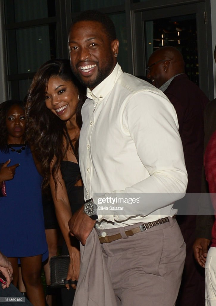 Dwyane wade and gabrielle union wedding rehearsal dinner at prime gabrielle union and dwyane wade leave their wedding rehearsal dinner at prime 112 steakhouse on august junglespirit Gallery