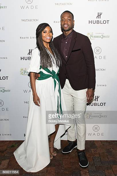 Gabrielle Union and Dwyane Wade on the Red Carpet at Hublot Haute Living Toast Art Basel with Private Dinner hosted by Dwyane Wade Gabrielle Union on...