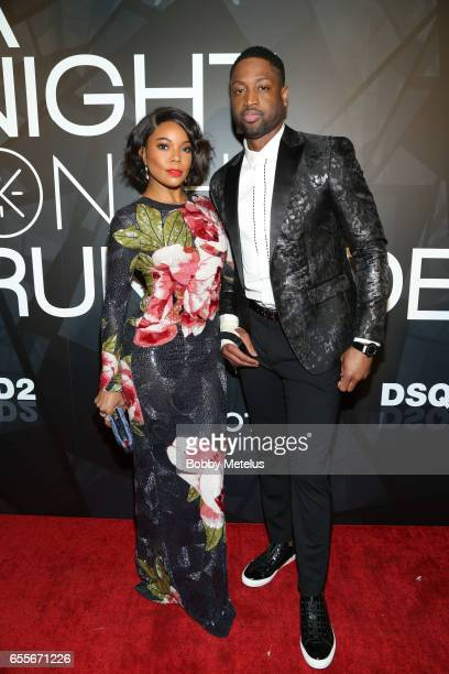Gabrielle Union and Dwyane Wade on the red carpet at the A Night on the Runwade Event at Revel Fulton Market on March 19th 2017 in Chicago Illinois