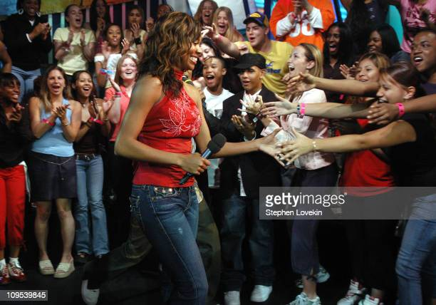 """Gabrielle Union and fans during Usher, Jamie Foxx and Gabrielle Union Stop by MTV's """"TRL"""" - April 29, 2004 at MTV Studios in New York City, New York,..."""