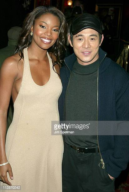 "Gabrielle Union and Jet Li during World Premiere of ""Cradle 2 the Grave"" at The Ziegfeld Theatre in New York City, New York, United States."