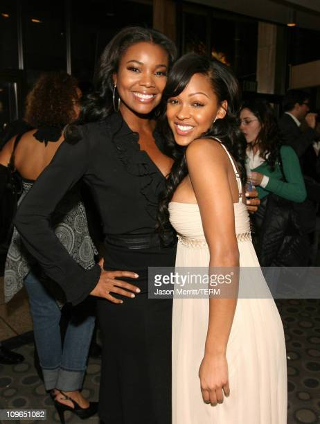 Gabrielle Union and Meagan Good during Stomp The Yard Premiere Red Carpet at Cinerama Dome in Hollywood California United States