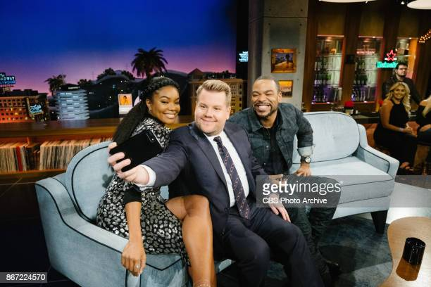Gabrielle Union and Method Man chat with James Corden during 'The Late Late Show with James Corden' Monday October 23 2017 On The CBS Television...