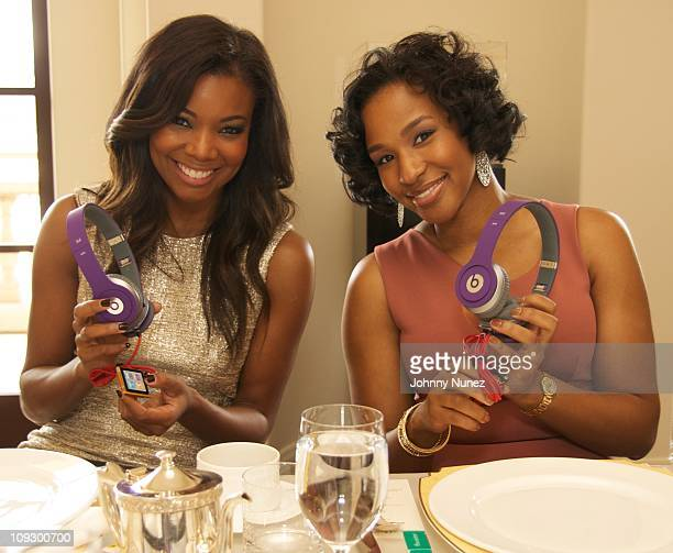 Gabrielle Union and Savannah Brinson at Montage Beverly Hills on February 19 2011 in Beverly Hills California