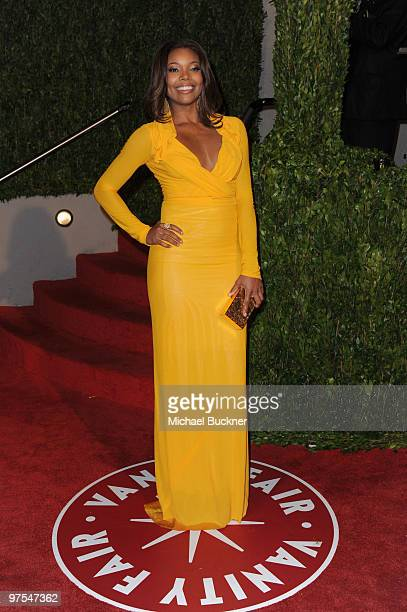 Gabrielle Union arrives at the 2010 Vanity Fair Oscar Party hosted by Graydon Carter held at Sunset Tower on March 7 2010 in West Hollywood California