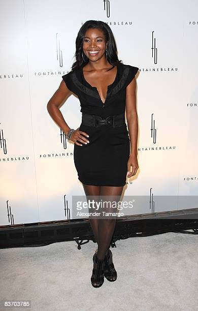 Gabrielle Union arrives for the Grand Opening at Fontainebleau Miami Beach on November 14, 2008 in Miami Beach, Florida.