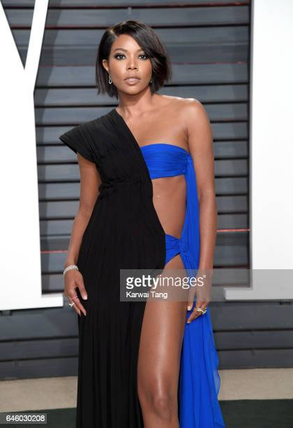 Gabrielle Union arrives for the Vanity Fair Oscar Party hosted by Graydon Carter at the Wallis Annenberg Center for the Performing Arts on February...