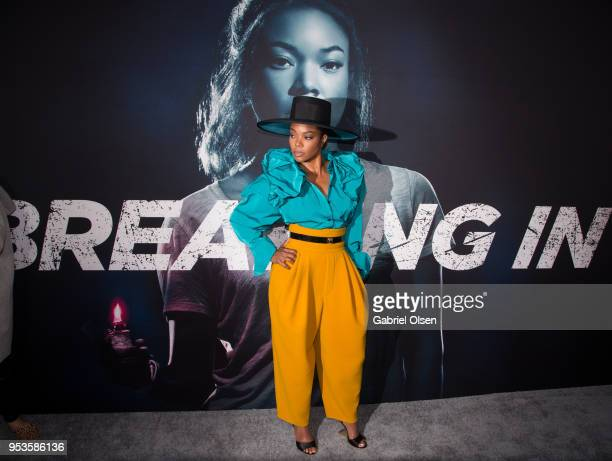 Gabrielle Union arrives to Universal Pictures' special screening of Breaking In at ArcLight Cinemas on May 1 2018 in Hollywood California