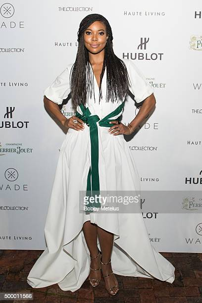 Gabrielle Union at Hublot Haute Living Toast Art Basel with Private Dinner hosted by Dwyane Wade Gabrielle Union on December 4 2015 in Miami Beach...