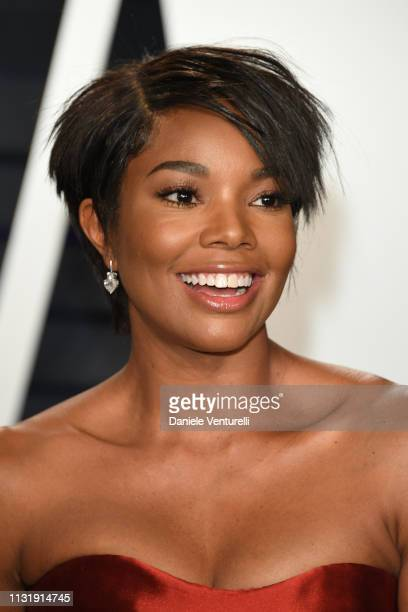 Gabrielle Union attends 2019 Vanity Fair Oscar Party Hosted By Radhika Jones at Wallis Annenberg Center for the Performing Arts on February 24 2019...