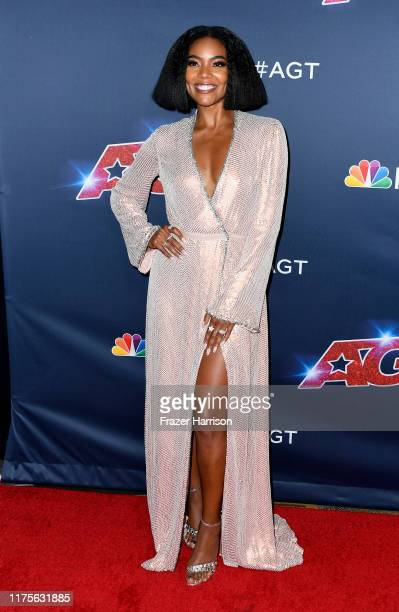 Gabrielle Union attends America's Got Talent Season 14 Finale Red Carpet at Dolby Theatre on September 18 2019 in Hollywood California