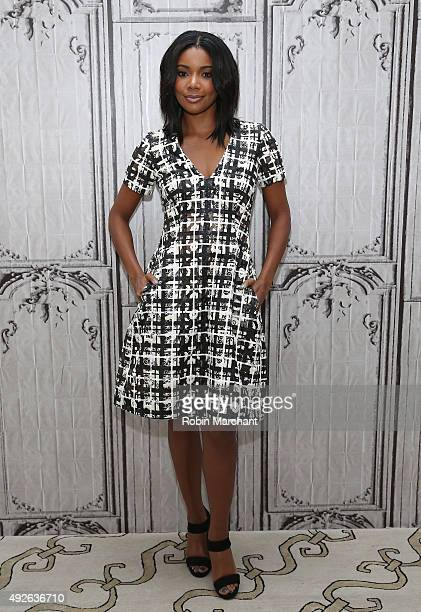 Gabrielle Union attends AOL BUILD at AOL Studios In New York on October 14 2015 in New York City