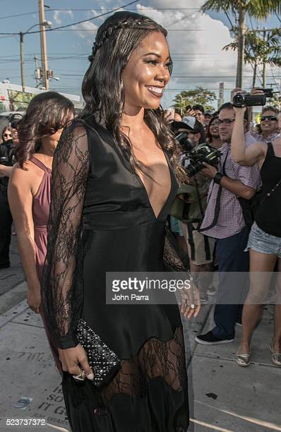 Gabrielle Union attends David Grutman's and model Isabela Rangel wedding in Wynwood Wall on April 23 2016 in Miami Florida