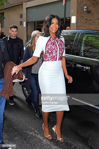 Gabrielle Union attends Live with Kelly and Michael at the ABC studio on October 13 2015 in New York City