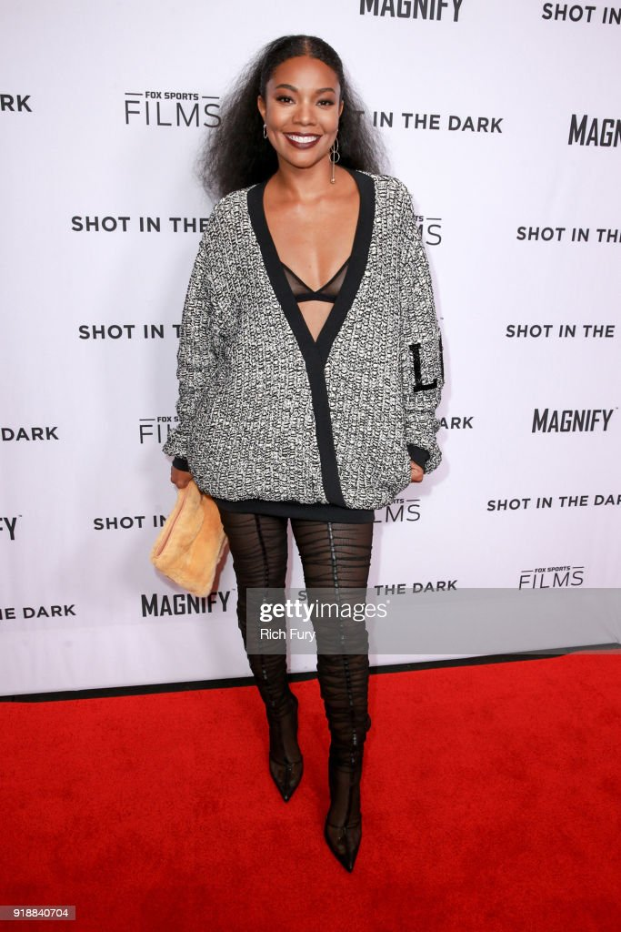 Gabrielle Union attends Magnify and Fox Sports Films' 'Shot In The Dark' premiere documentary screening and panel discussion at Pacific Design Center on February 15, 2018 in West Hollywood, California.