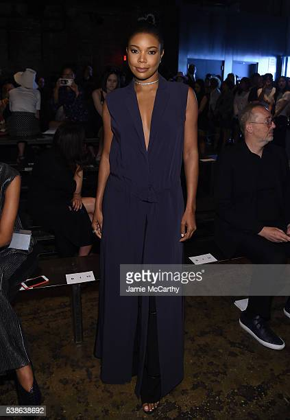 Gabrielle Union attends Public School's Women's And Men's Spring 2017 Collection Runway Show at Cedar Lake on June 7 2016 in New York City
