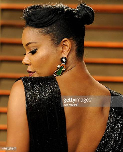 Gabrielle Union attends the 2014 Vanity Fair Oscar Party hosted by Graydon Carter on March 2 2014 in West Hollywood California