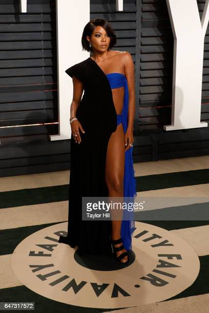 Gabrielle Union attends the 2017 Vanity Fair Oscar Party at Wallis Annenberg Center for the Performing Arts on February 26 2017 in Beverly Hills...