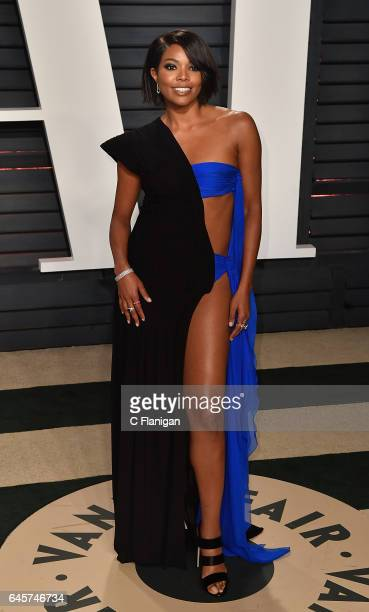 Gabrielle Union attends the 2017 Vanity Fair Oscar Party Hosted by Graydon Carter at the Wallis Annenberg Center for the Performing Arts on February...