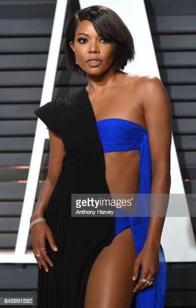 Gabrielle Union attends the 2017 Vanity Fair Oscar Party hosted by Graydon Carter at Wallis Annenberg Center for the Performing Arts on February 26...