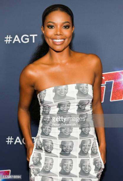 Gabrielle Union attends the America's Got Talent Season 14 Live Show Red Carpet at Dolby Theatre on August 27 2019 in Hollywood California