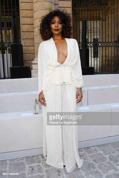 Gabrielle Union attends the Berluti Menswear Spring/Summer 2018 show as part of Paris Fashion Week on June 23 2017 in Paris France