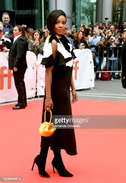 Gabrielle Union attends the The Public premiere during 2018 Toronto International Film Festival at Roy Thomson Hall on September 9 2018 in Toronto...