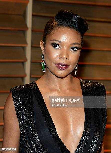Gabrielle Union attends the Vanity Fair afterparty of the 2014 Academy Awards hosted by Graydon Carter at the Sunset Plaza Sunday evening