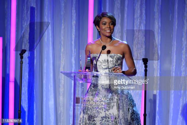 Gabrielle Union attends The Women's Cancer Research Fund's An Unforgettable Evening Benefit at the Beverly Wilshire Four Seasons Hotel on February 28...