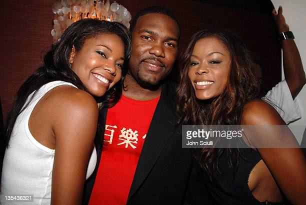 Gabrielle Union Chris Howard and Golden Brooks during LaFace Records and AXE Present Ciara's BET Awards PreParty Celebration Inside at Geisha House...