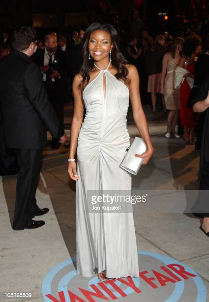 Gabrielle Union during 2004 Vanity Fair Oscar Party at Mortons in Beverly Hills California United States