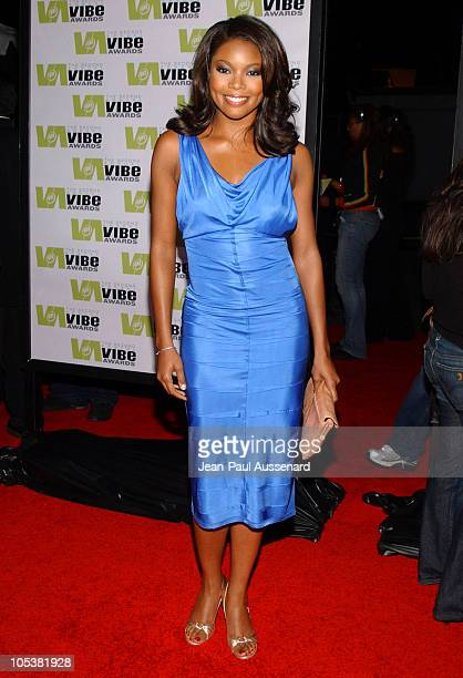 Gabrielle Union during 2004 Vibe Awards Arrivals at Barker Hanger in Santa Monica California United States