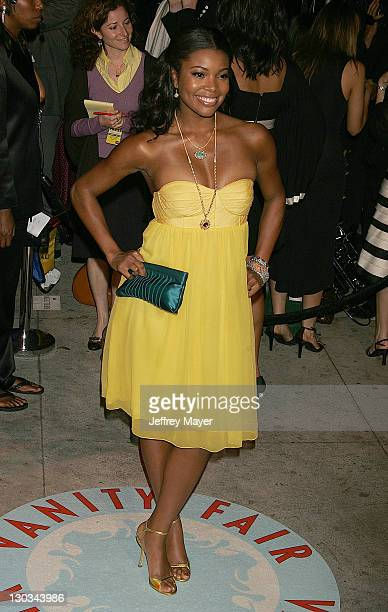 Gabrielle Union during 2006 Vanity Fair Oscar Party Hosted by Graydon Carter Arrivals at Morton's in West Hollywood California United States