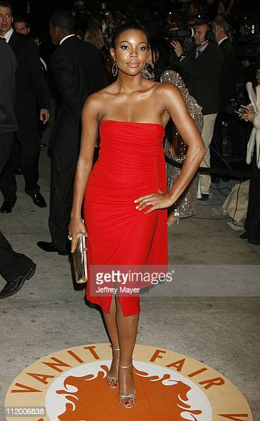 Gabrielle Union during 2007 Vanity Fair Oscar Party Hosted by Graydon Carter Arrivals at Mortons in West Hollywood California United States