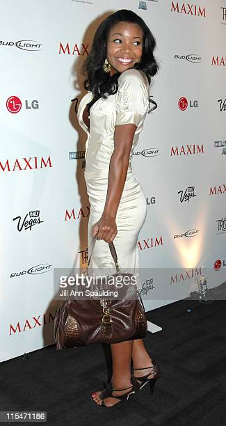 Gabrielle Union during Maxim Magazine 100th Birthday Celebration - Arrivals at Tryst at Wynn Las Vegas in Las Vegas, Nevada, United States.