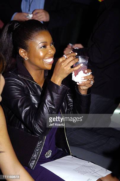Gabrielle Union during Spike TV's 2nd Annual Video Game Awards 2004 Backstage at Barker Hangar in Santa Monica California United States