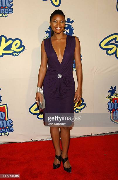 """Gabrielle Union during Spike TV's 2nd Annual """"Video Game Awards 2004"""" - Arrivals at Barker Hangar in Santa Monica, California, United States."""