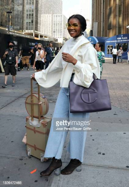 """Gabrielle Union is seen filming """"The Perfect Find"""" on June 30, 2021 in New York City."""