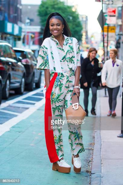 Gabrielle Union is seen in SoHo on October 17 2017 in New York City