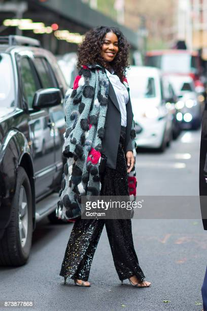 Gabrielle Union is seen in Tribeca on November 13 2017 in New York City