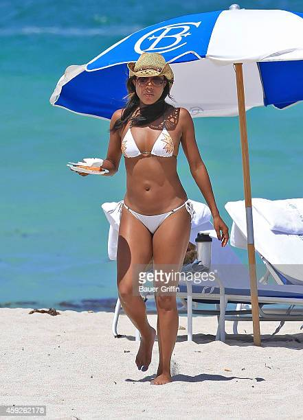 Gabrielle Union is seen on the beach on May 28 2012 in Miami Florida