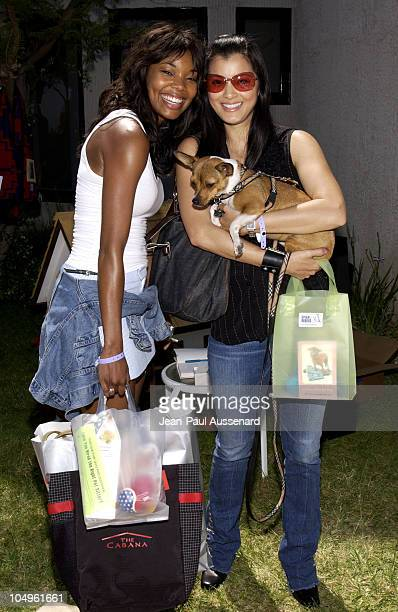 Gabrielle Union Kelly Hu during Cabana PreMTV Movie Awards Beauty Buffet Day Two at Private Residence in Hollywood California United States