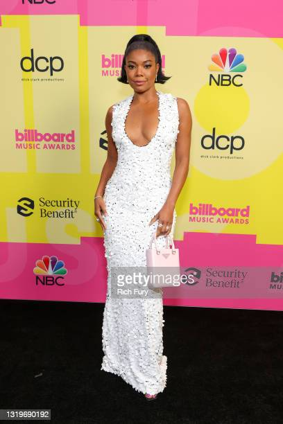 Gabrielle Union poses backstage for the 2021 Billboard Music Awards, broadcast on May 23, 2021 at Microsoft Theater in Los Angeles, California.