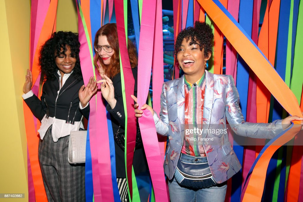 Gabrielle Union, Refinery29 Global Editor-in-Chief and Co-Founder Christene Barberich, and Yara Shahidi attend Refinery29 29Rooms Los Angeles: Turn It Into Art Opening Night Party at ROW DTLA on December 6, 2017 in Los Angeles, California.